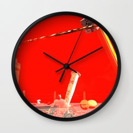 SquaRed: UndeRed Press Wall Clock