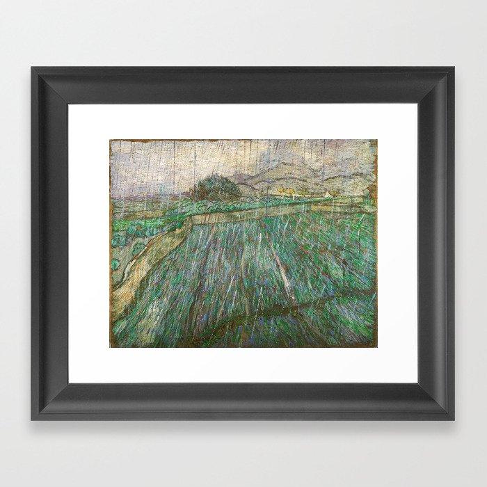 Vincent Van Gogh - Rain Gerahmter Kunstdruck