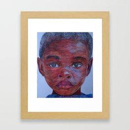 Young boy Framed Art Print