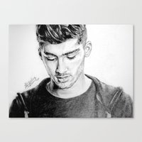 zayn Canvas Prints featuring Zayn by Drawpassionn