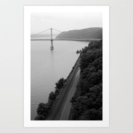 The Bridge by the Tracks Art Print