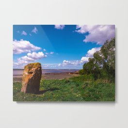 Between a rock and a blue place Metal Print