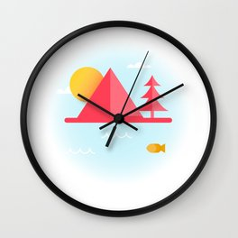 OCEAN TO SKY Wall Clock