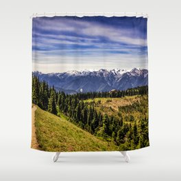 Hurricane Hill View Shower Curtain