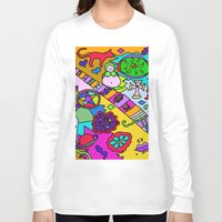 religion Long Sleeve T-shirts featuring Science Verses Religion by Linda Tomei