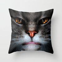 ben giles Throw Pillows featuring Ben by Kerri Ann Crau