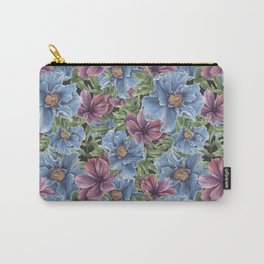 Hibiscus Flowers on Chalkboard Carry-All Pouch