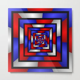 Colorful Tunnel 3 Digital Art Graphic Metal Print
