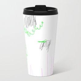 abstract whale Travel Mug