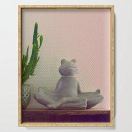 Meditation Froggy style Serving Tray