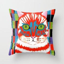 Bad Cattitude - Cats Throw Pillow