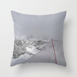 Snow is whiter on the other side Throw Pillow