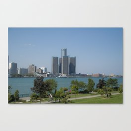 Detroit From Windsor Canvas Print