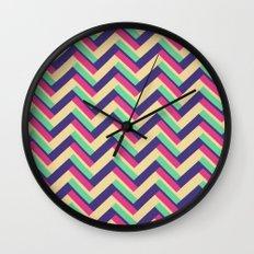 3-D Chevron Wall Clock