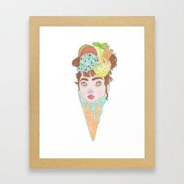 Mint Choc Icecream Framed Art Print