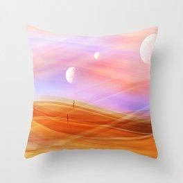 5 moons Throw Pillow