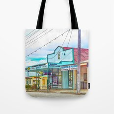 Welcoming village shop Tote Bag