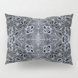 Crocheted Lace Mandala Pillow Sham
