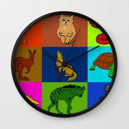 Desert animals pop art Wall Clock