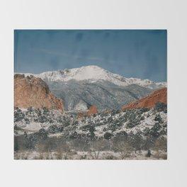 Snowy Mountain Tops Throw Blanket