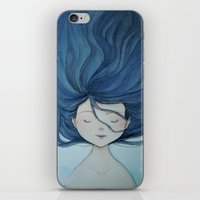 little mermaid iPhone & iPod Skins featuring Little Mermaid by Grazia Vincoletto