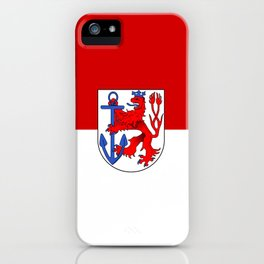 flag of Düsseldorf or Dusseldorf iPhone Case