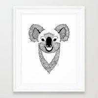 koala Framed Art Prints featuring Koala by Art & Be