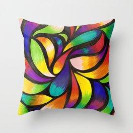 Dancing in the rainbows dark Throw Pillow