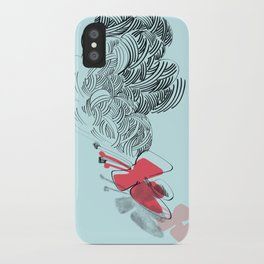 in red iPhone Case