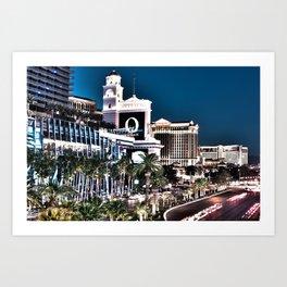 Las Vegas by Night 1 Art Print