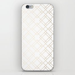 Simply Mod Diamond White Gold Sands on White iPhone Skin