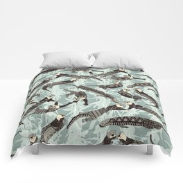 sea otters silver Comforters