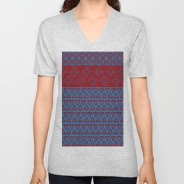 Japanese Style Bohemian Pattern Unisex V-Neck