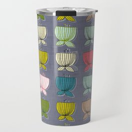 flower cups amethyst art Travel Mug