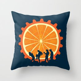 Mob Mentality Throw Pillow