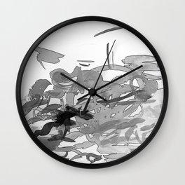 ink splotches Wall Clock