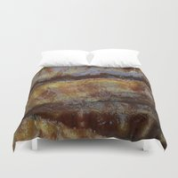 bacon Duvet Covers featuring Bacon by John Grey