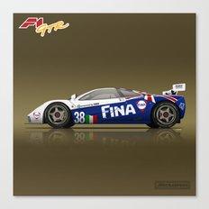 1996 McLaren F1 GTR #16R FINA Canvas Print