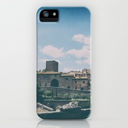 Tuscania medieval village in summer iPhone Case