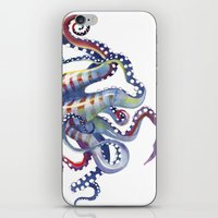 octopus iPhone & iPod Skins featuring Octopus by Sam Nagel