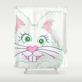 Funny Bunny Bed and Bath Shower Curtain