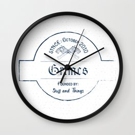 Grimes: Stuff and Things Wall Clock
