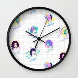 Las Luchonas Wall Clock