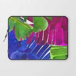 Colorful tropical leaves Laptop Sleeve