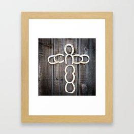 Horseshoe Cross Framed Art Print
