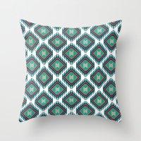 kilim Throw Pillows featuring Pistachio Persian Kilim by Katayoon Photography & Design