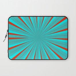 Sparkle Neon Aqua Turquoise Red Laptop Sleeve