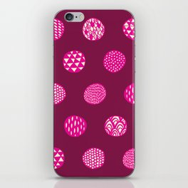 Patterned Dots iPhone Skin