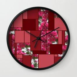 Crape Myrtle Art Rectangles 8 Wall Clock