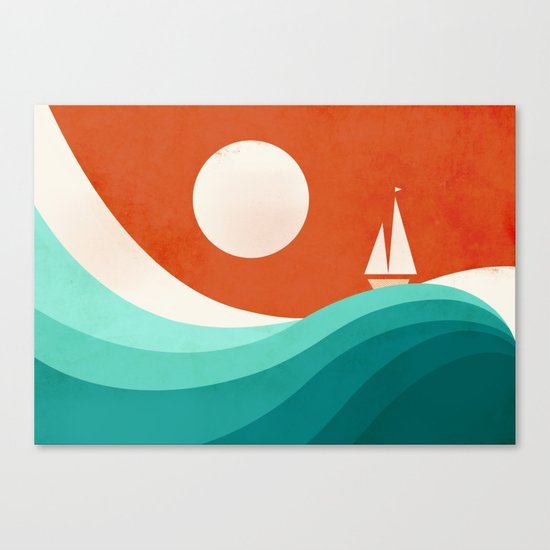 Wave (night) Canvas Print